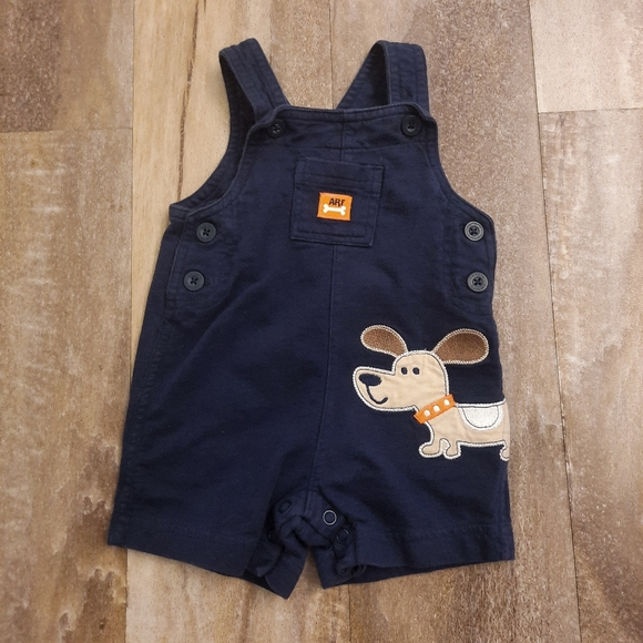 👶Carter's Navy Puppy Dog Jumper Overalls 3mo